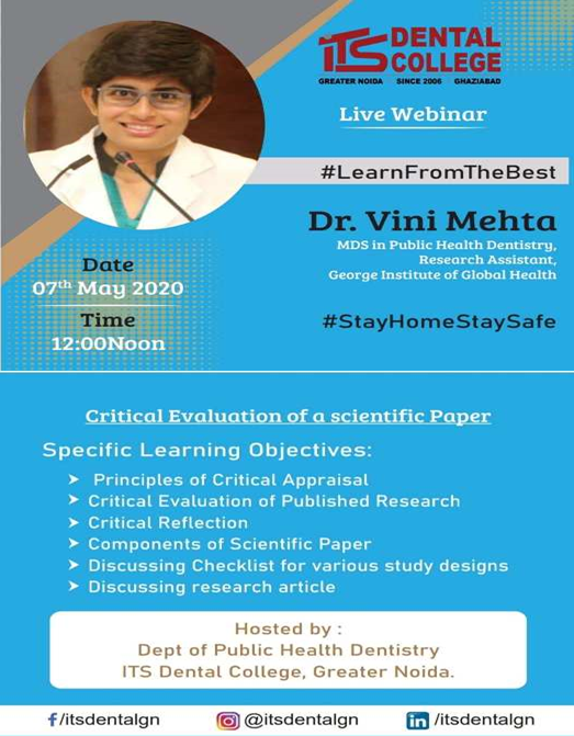 Oral Carcinoma Webinar ITS Dental College