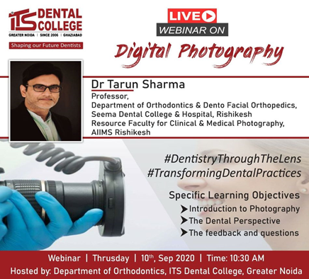"Live Webinar on the topic ""Digital Photography"" on 10th September 2020"