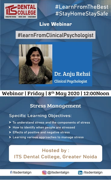 "Live Webinar on ""Stress Management"""